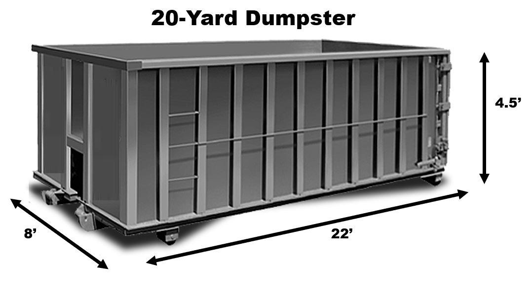 20 Yard Dumpster Rental in Houston TX