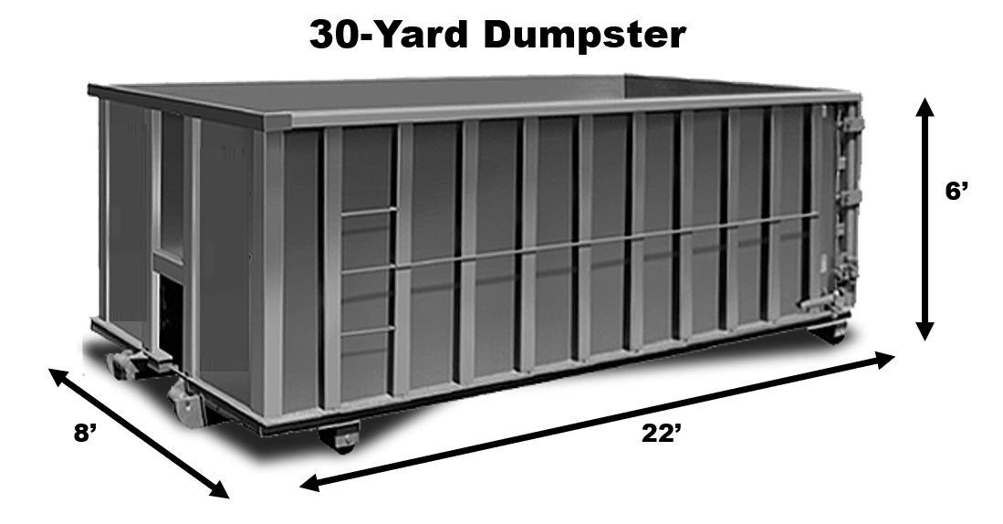 30 Yard Dumpster Rental in Houston TX